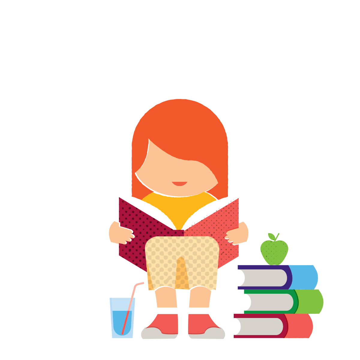 Savvi girl reading books 20